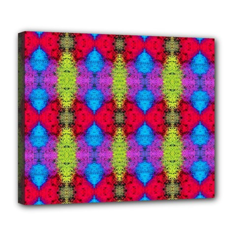 Colorful Painting Goa Pattern Deluxe Canvas 24  x 20