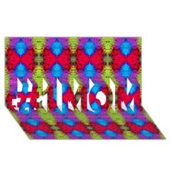 Colorful Painting Goa Pattern #1 Mom 3d Greeting Cards (8x4)