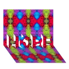 Colorful Painting Goa Pattern HOPE 3D Greeting Card (7x5)
