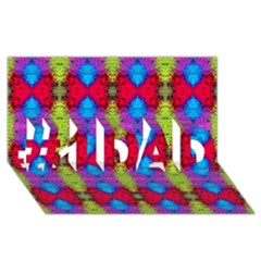 Colorful Painting Goa Pattern #1 DAD 3D Greeting Card (8x4)