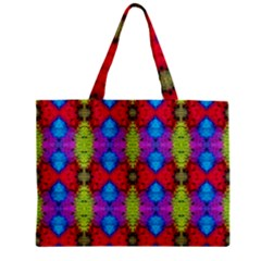 Colorful Painting Goa Pattern Zipper Tiny Tote Bags