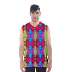 Colorful Painting Goa Pattern Men s Basketball Tank Top