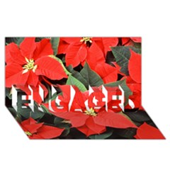 POINSETTIA ENGAGED 3D Greeting Card (8x4)