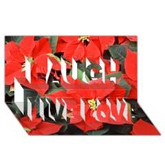 POINSETTIA Laugh Live Love 3D Greeting Card (8x4)