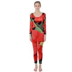Poinsettia Long Sleeve Catsuit
