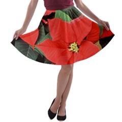 POINSETTIA A-line Skater Skirt