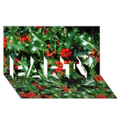 HOLLY 2 PARTY 3D Greeting Card (8x4)