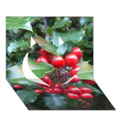 HOLLY 1 Heart 3D Greeting Card (7x5)