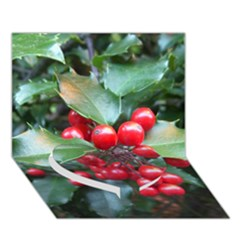 HOLLY 1 Heart Bottom 3D Greeting Card (7x5)