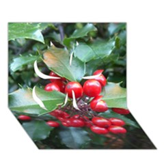 Holly 1 Clover 3d Greeting Card (7x5)