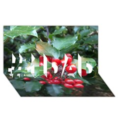 Holly 1 #1 Dad 3d Greeting Card (8x4)