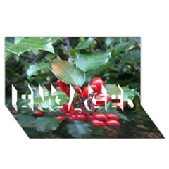 HOLLY 1 ENGAGED 3D Greeting Card (8x4)
