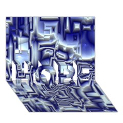 Reflective Illusion 01 HOPE 3D Greeting Card (7x5)