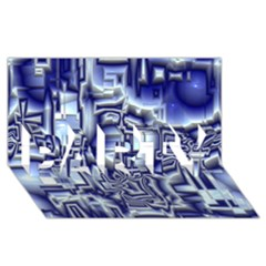 Reflective Illusion 01 PARTY 3D Greeting Card (8x4)