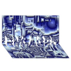 Reflective Illusion 01 ENGAGED 3D Greeting Card (8x4)