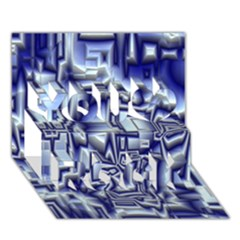 Reflective Illusion 01 You Rock 3D Greeting Card (7x5)