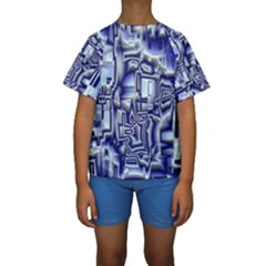 Reflective Illusion 01 Kid s Short Sleeve Swimwear