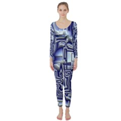 Reflective Illusion 01 Long Sleeve Catsuit