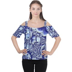 Reflective Illusion 01 Women s Cutout Shoulder Tee