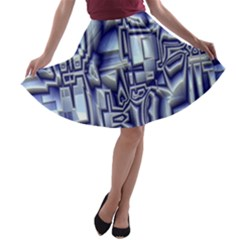 Reflective Illusion 01 A-line Skater Skirt