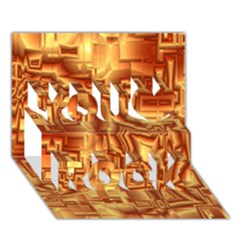 Reflective Illusion 02 You Rock 3D Greeting Card (7x5)