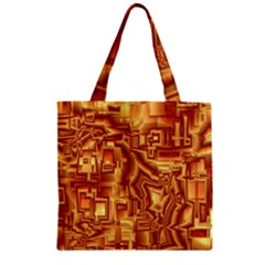 Reflective Illusion 02 Zipper Grocery Tote Bags