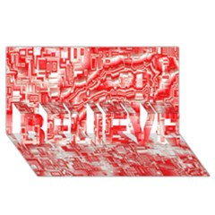 Reflective Illusion 03 Believe 3d Greeting Card (8x4)