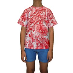 Reflective Illusion 03 Kid s Short Sleeve Swimwear