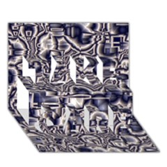Reflective Illusion 04 TAKE CARE 3D Greeting Card (7x5)