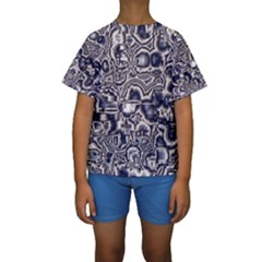 Reflective Illusion 04 Kid s Short Sleeve Swimwear