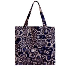 Reflective Illusion 04 Zipper Grocery Tote Bags