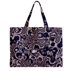 Reflective Illusion 04 Zipper Tiny Tote Bags