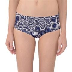 Reflective Illusion 04 Mid-Waist Bikini Bottoms