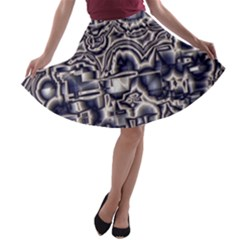 Reflective Illusion 04 A-line Skater Skirt