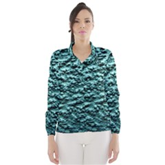Green Metallic Background, Wind Breaker (women)