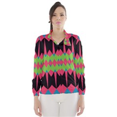 Rhombus and other shapes pattern Wind Breaker (Women)