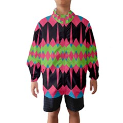 Rhombus and other shapes pattern Wind Breaker (Kids)