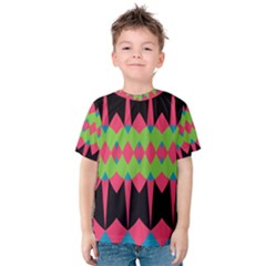 Rhombus and other shapes pattern Kid s Cotton Tee