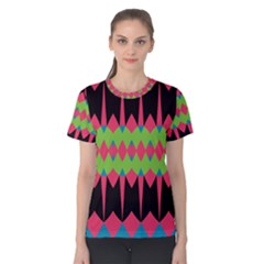 Rhombus and other shapes pattern Women s Cotton Tee