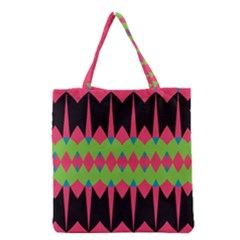 Rhombus and other shapes pattern Grocery Tote Bag