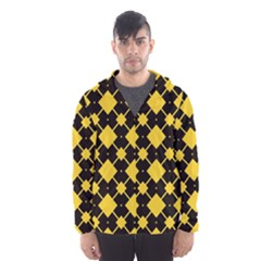 Connected rhombus pattern Mesh Lined Wind Breaker (Men)