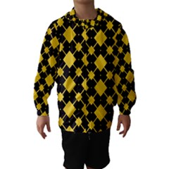 Connected rhombus pattern Hooded Wind Breaker (Kids)