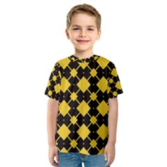 Connected rhombus pattern Kid s Sport Mesh Tee