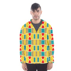 Colorful Chains Pattern Mesh Lined Wind Breaker (men)