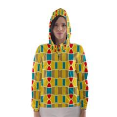 Colorful chains pattern Hooded Wind Breaker (Women)