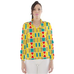 Colorful Chains Pattern Wind Breaker (women)