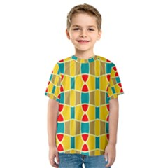Colorful Chains Pattern Kid s Sport Mesh Tee