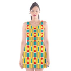 Colorful chains pattern Scoop Neck Skater Dress