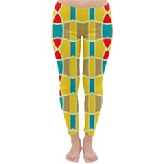 Colorful chains pattern Winter Leggings