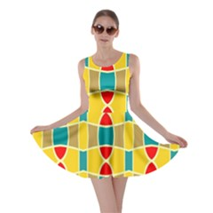 Colorful chains pattern Skater Dress